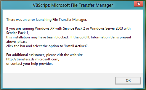 Windows 8 VBScript File Transfer Manager – SpaceTech